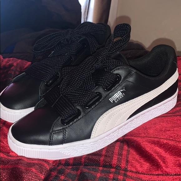puma basket heart de leather sneaker